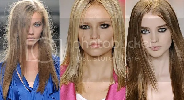 Sleek and straight hair style trend 2009