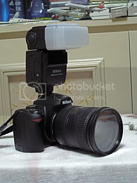 Camera w/ 18-200mm & SB600 external flash