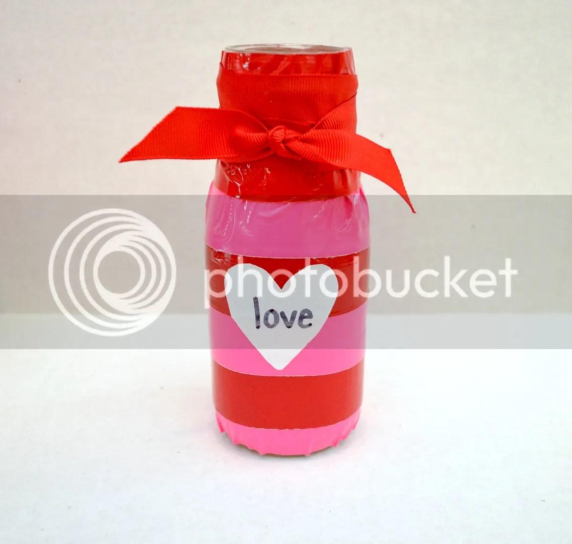 Valentine Vase with Duck Tape