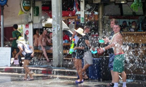 Songkran madness Pattaya Thailand