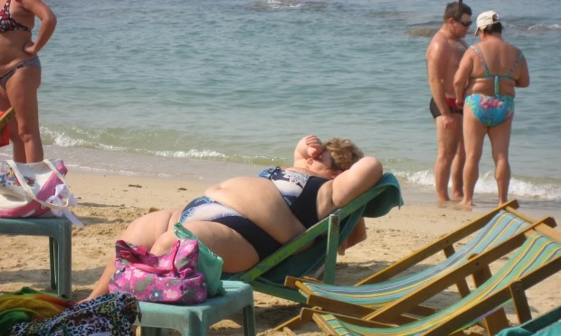 Babushkas wear Bikinis Pattaya beach