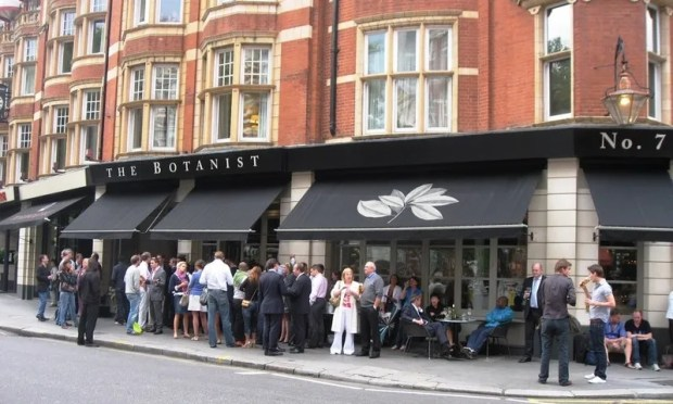 London pubs Botanist Sloane Square