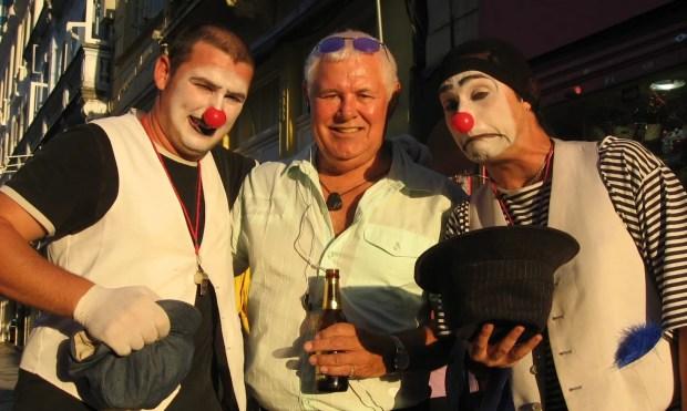 Three clowns in Curitiba