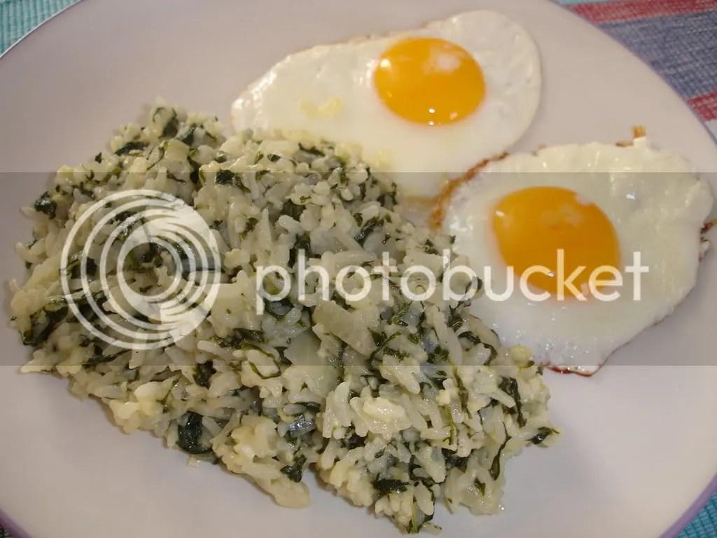Spinach Risotto (nasi campur bayam)
