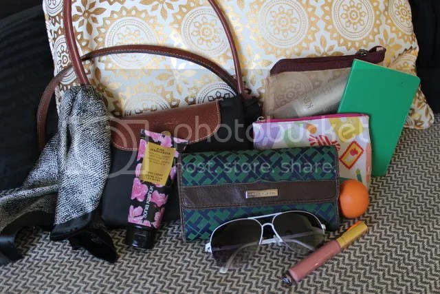 What s in my bag  by Fashion in Flight tommy hilfiger printed wallet  moleskin emerald green ea71a1c5b3