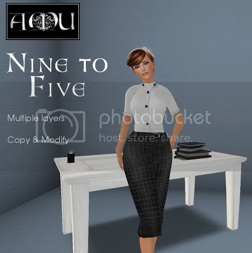 ~AMU~ Nine to Five outfit (plaid)