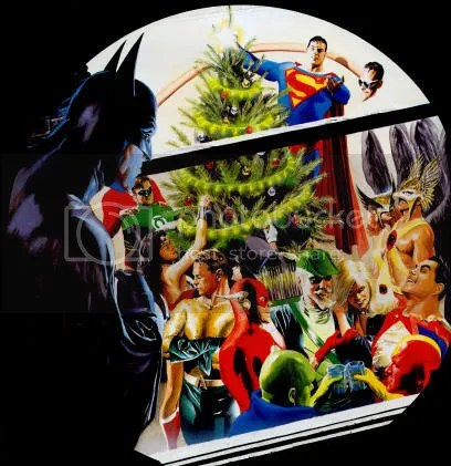 Batman Christmas Plate by Alex Ross