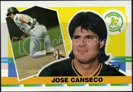 Jose Canseco baseball card