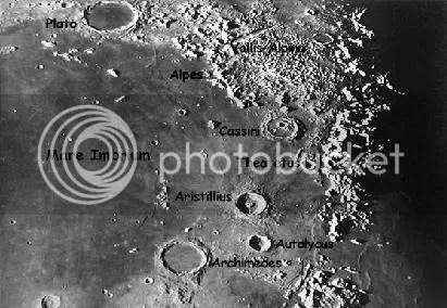 crateres de la luna