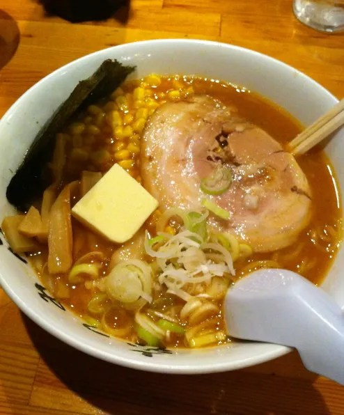 Miso Ramen with butter and corn