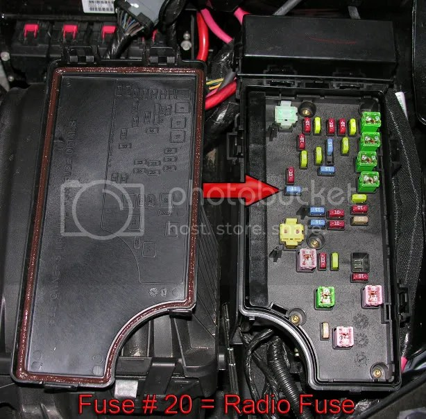 2008 Jeep Compass Interior Fuse Box Location