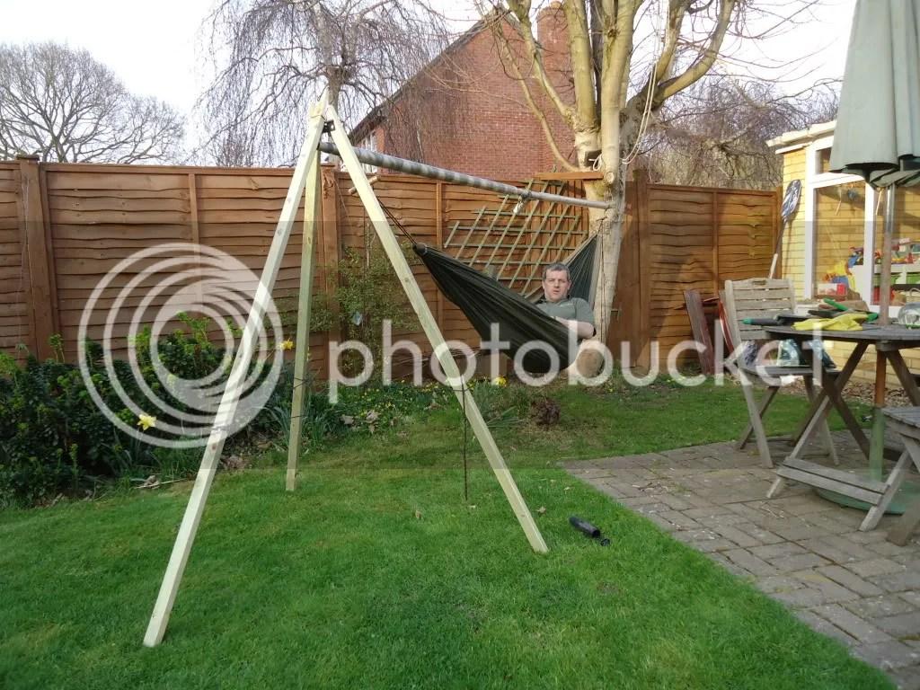 Single Pole Hammock Stand