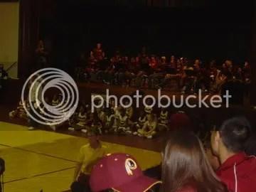 pep band and cheerleaders