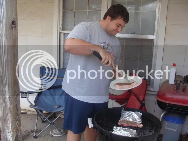Johnboy grilling