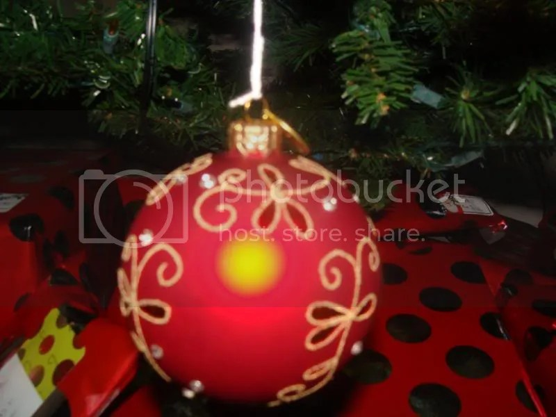Red and Gold Ornament