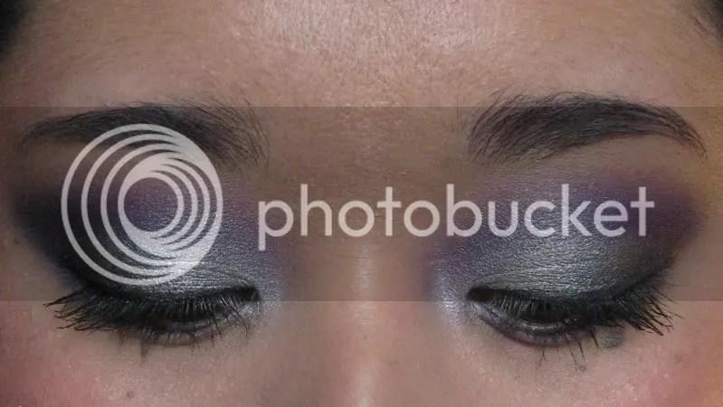 LA Kings Makeup Tutorial,warmvanillasugar0823,purple eye shadow,silver eye shadow