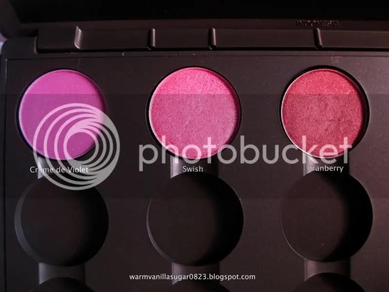 Mac Cosmetics,Mac 15 Palette,Mac Eye Shadow,Mac Creme de Violet,Mac Swish,Mac Cranberry,warmvanillasugar0823