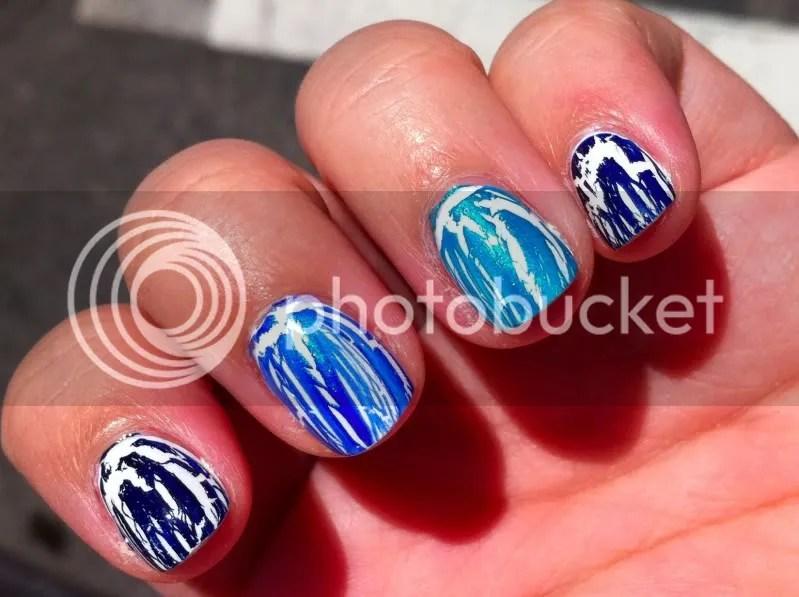 OPI Navy Shatter,OPI Blue Shatter,OPI Turquoise Shatter,warmvanillasugar0823