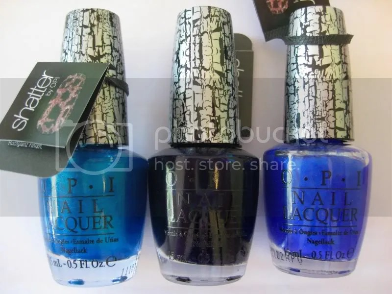 OPI Blue Shatter,OPI Navy Shatter,OPI Turquoise Shatter,warmvanillasugar0823