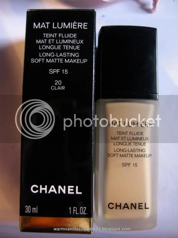Chanel Mat Lumiere,Chanel Foundation,Chanel Mat Lumiere 20 Clair,warmvanillasugar0823