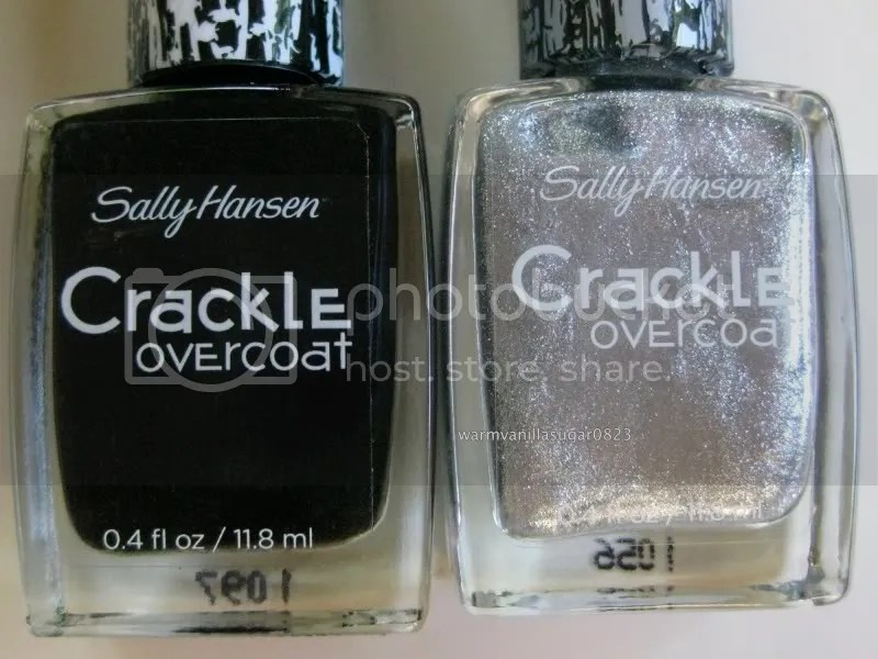 Sally Hansen Crackle Overcoat,Sally Hansen Spilled Ink,Sally Hansen Fractured Foil,warmvanillasugar0823