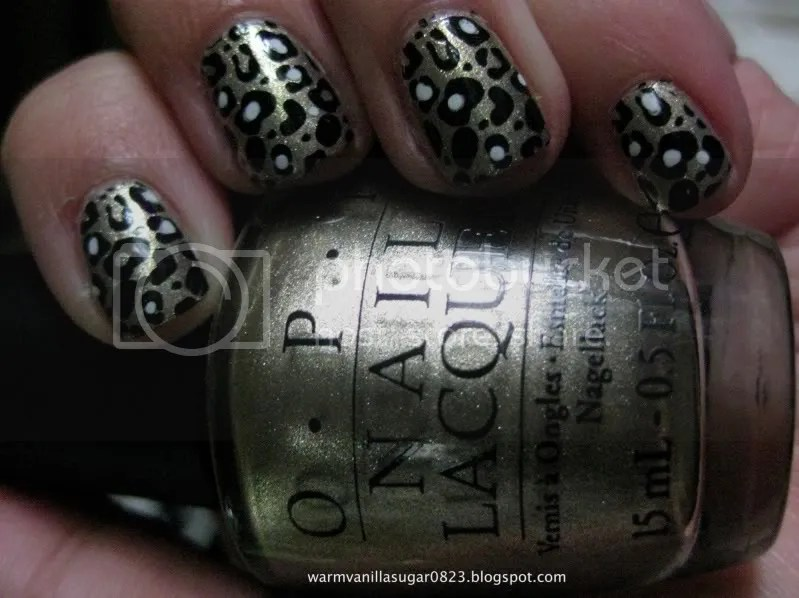 OPI Glitzerland,OPI Swiss Collection,Konad M57,Leopard Print Nails,Pittsburgh Penguins