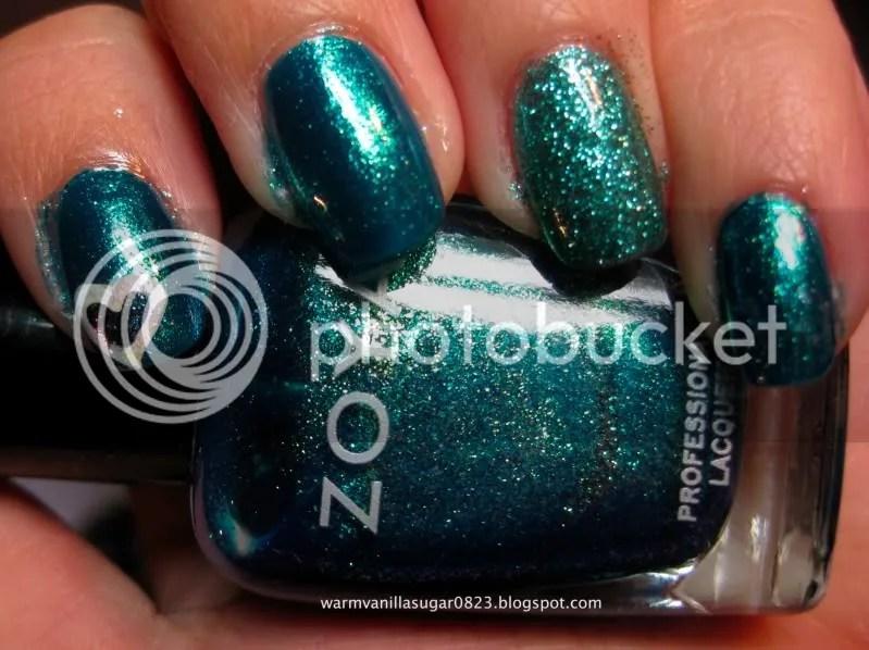 Zoya Charla,Nubar Teal Glitter,warmvanillasugar0823,Nail Art,Teal