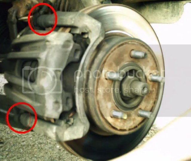 Image  Pull Up On Caliper To Remove From The Rotor