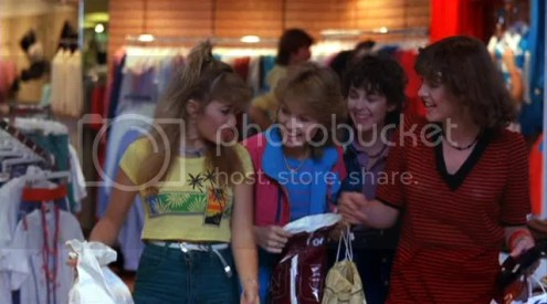 iRewind Talk  80 s Movie Fashion I mean where better to start with 80 s fashion than to begin the movie with  a shopping spree at the Del Amo Fashion Center in Torrance California