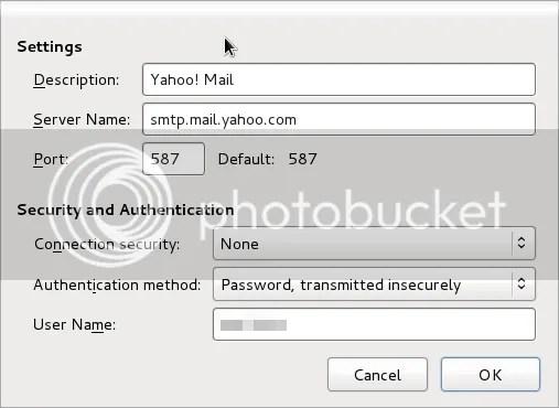 SMTP Yahoo Mail