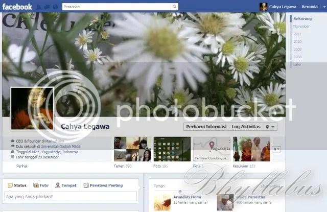 Antarmuka Facebook Kronologi