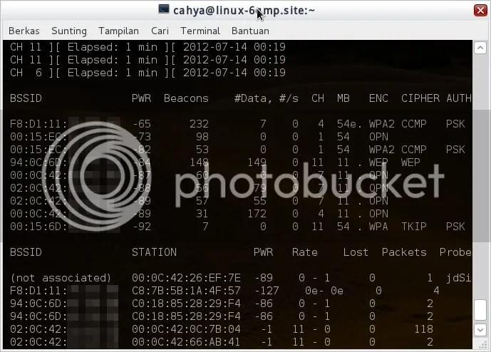 Melacak kode BSSID melalui Reaver