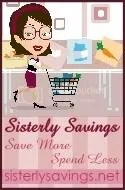 Sisterly Savings button