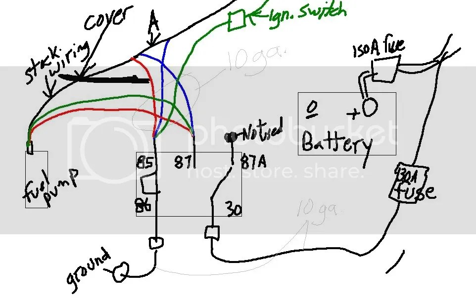 Quick 12V Fuel Pump Mod Question W/ Diagram
