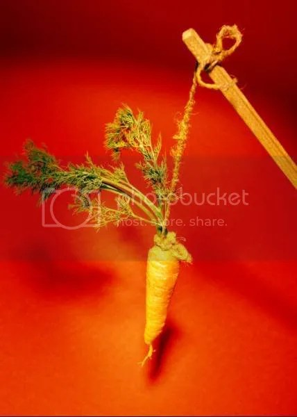 Motivation carrot stick