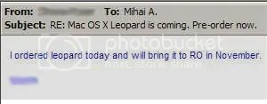 Leopard is coming in november on my desk