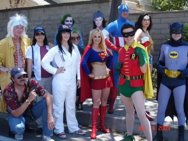 Heros in the shade! More costumes than comic con