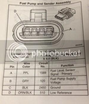 Fuel Pump wiring diagram?  Chevy Trailblazer SS Forum