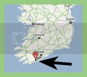 country cork ring ireland map