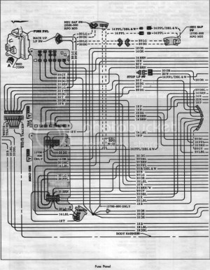 1966 Wiring SchematicsDiagramsLampsFuses  Chevelle Tech