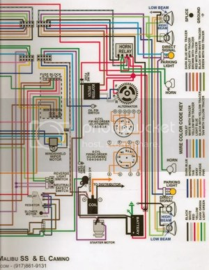 1966 Wiring SchematicsDiagramsLampsFuses  Chevelle Tech