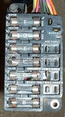1967 chevelle fuse box help  Chevelle Tech
