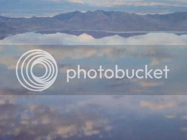 Flying over Salt Lake