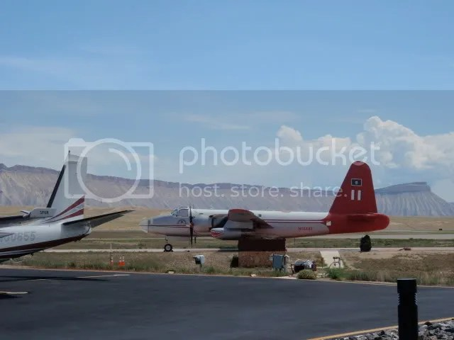 Bad ass air tanker- Book Cliffs in the background