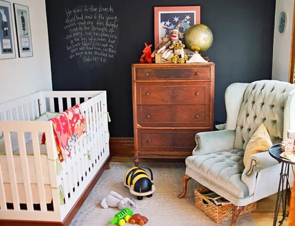 chalkboard wall nursery ideas