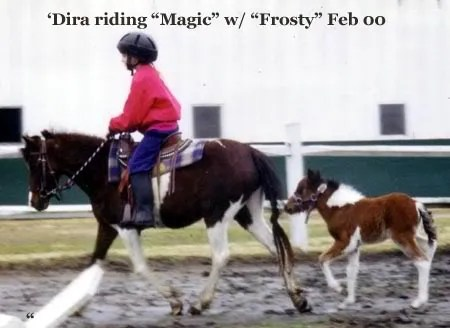 Madira riding Magic