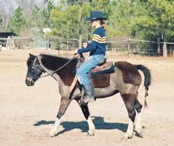 Ashley riding Vixen