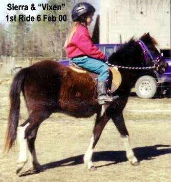 Sierra & Vixen - 1st ride - LP Painted Ponys, Parkton, NC - 2000