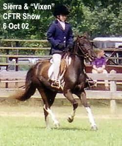 Sierra & Vixen at CFTR Horse Show - 2002