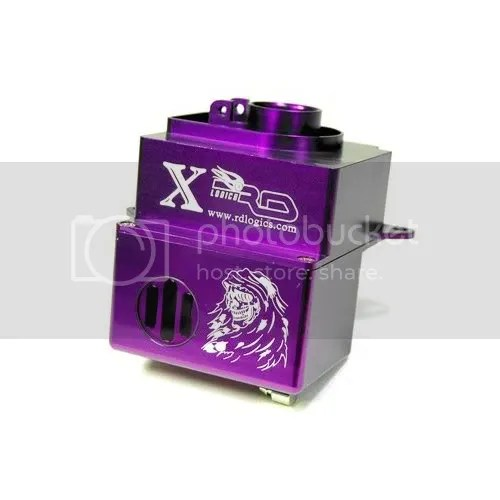 nitrol rc car purple aluminum fuel tank